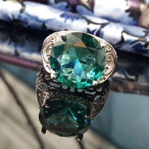 Jewelry - Green Topaz Statement Ring